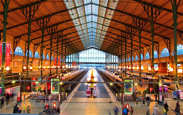 Estação Paris du Nord em Paris