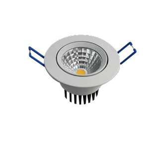LED Downlight Round ∅7x5.3CM Cut Out: ∅5.5CM 100-240V 24 Degree 5000K IP20 Epistar COB 80RA 340LM 0.9 85LM/W 4W White