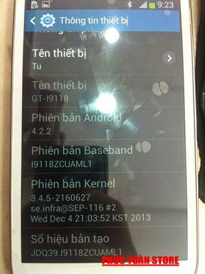 Tiếng Việt và CH Play Samsung I9118 done alt