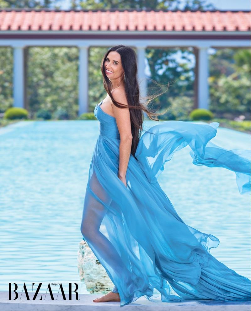 Demi Moore wears Valentino Haute Couture gown