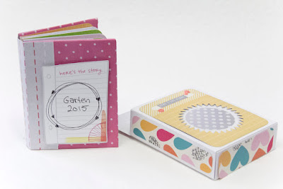 Gartenalbum mit bunten Farben für Scrapwerk Scrapbooking Magazin