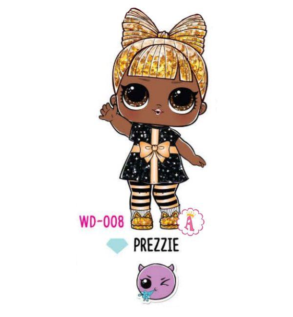 Prezzie WD-008 кукла подарок Лол Сюрприз золотисто-черная