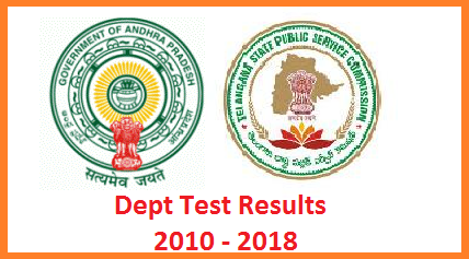 Departmental Test EOT Paper Code 141 and GOT Paper Code 88 97 Results from 2010 to 2018 May and November Sessions with Names US Format PDF Download. Telangana Public Service Commission TSPSC and Andhra Pradesh Public Service Commission APPSC Dept Test Results with Names Download as pdf here. TS Teachers and AP Teachers may Download their Departmental Test Results here with names to enter in Service Books by DDOs