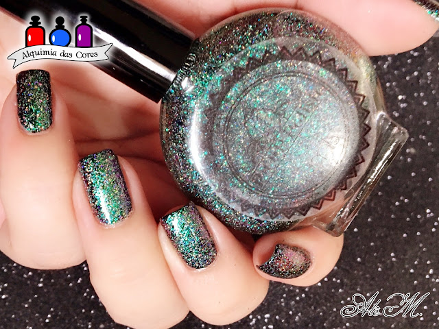 P.O.P. Polish, Vision in Verdant, Indie Polish, Etsy, Glitter, Multichrome, Holografico, Alê M.