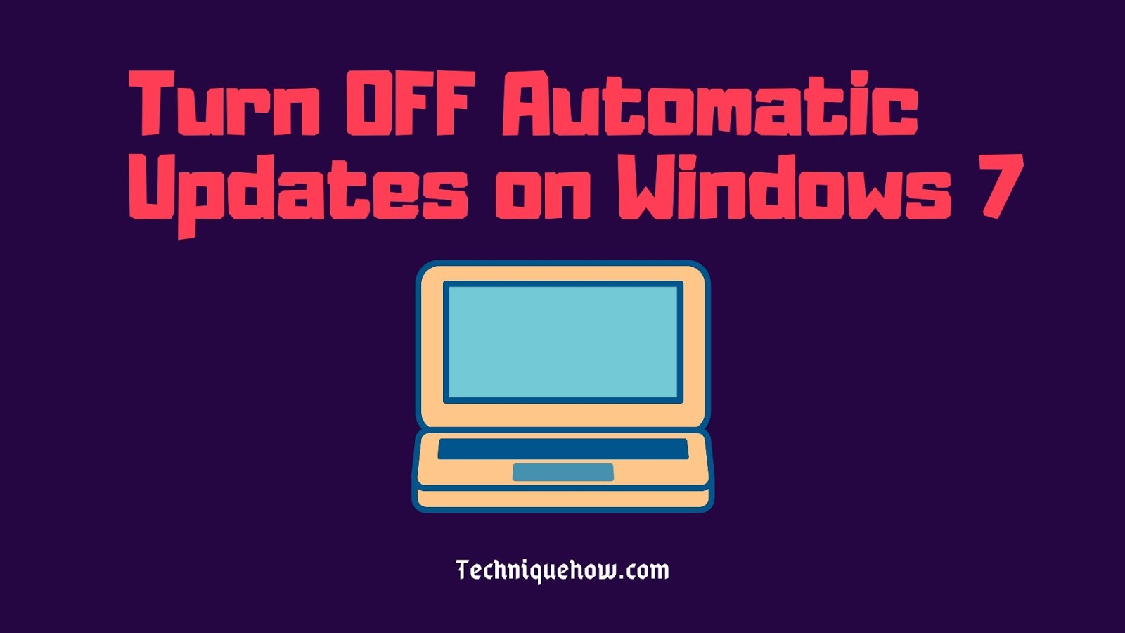 turn off automatic update in windows 7