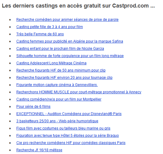 castings castprod gagner