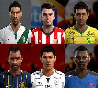 Faces: Bianchi Arce, Encina, Gonzalez Pirez, Rafael Delgado, Sebastián Rincón, Walter Bou, Pes 2013