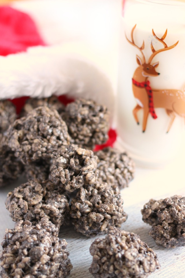 Rice Krispies Cookies and Cream COAL Treats