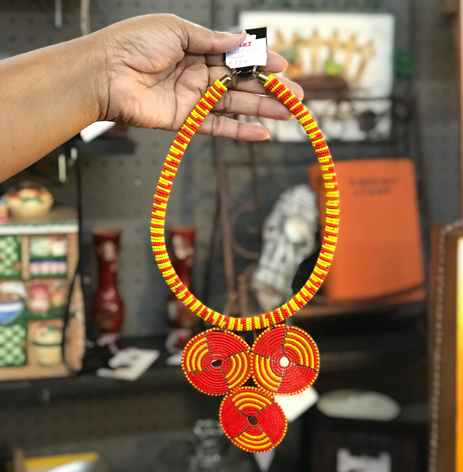 Image: Yellow and Orange Seed Bead Necklace: This is how I will spice up my wardrobe this year. Spice And Color On Color On Color!