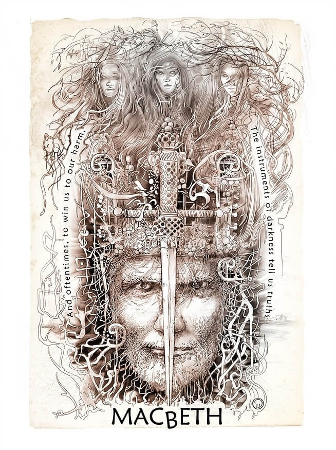 07-Macbeth-Irina-Vinnik-Intricate-Drawings-for-a-Shakespeare-Calendar-www-designstack-co