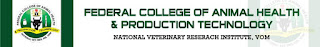 Federal College of Animal Health and Production Technology Vom Admission Form
