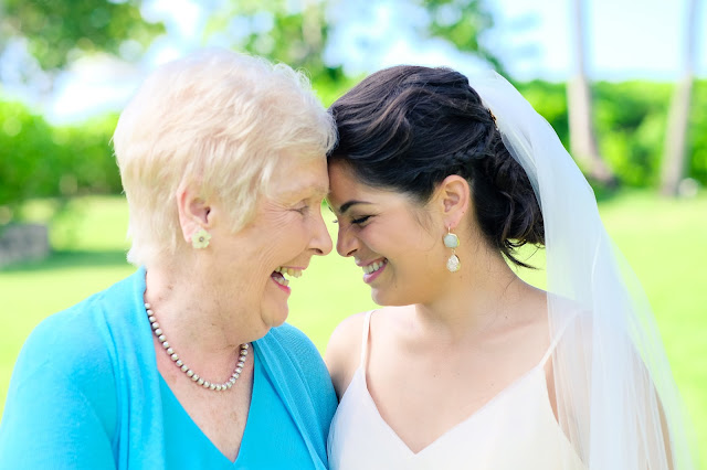 Venture & Roam - Bahamas wedding, bride and grandmother, wedding photography, taken by Heather Carey Photography