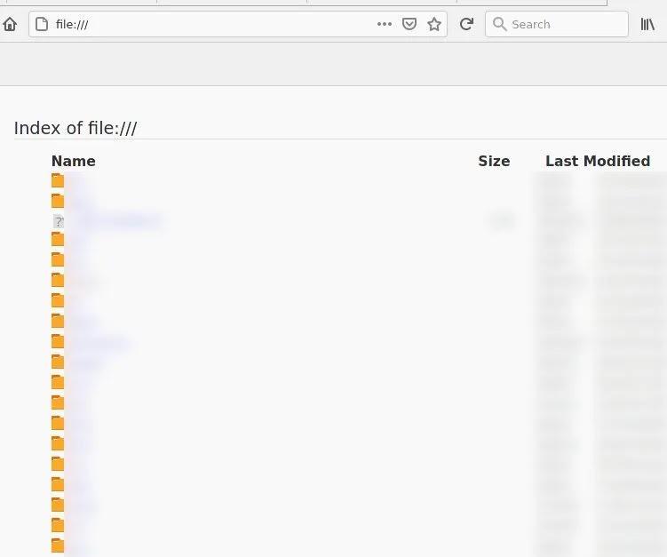 الوصول إلى الملفات المحلية Firefox