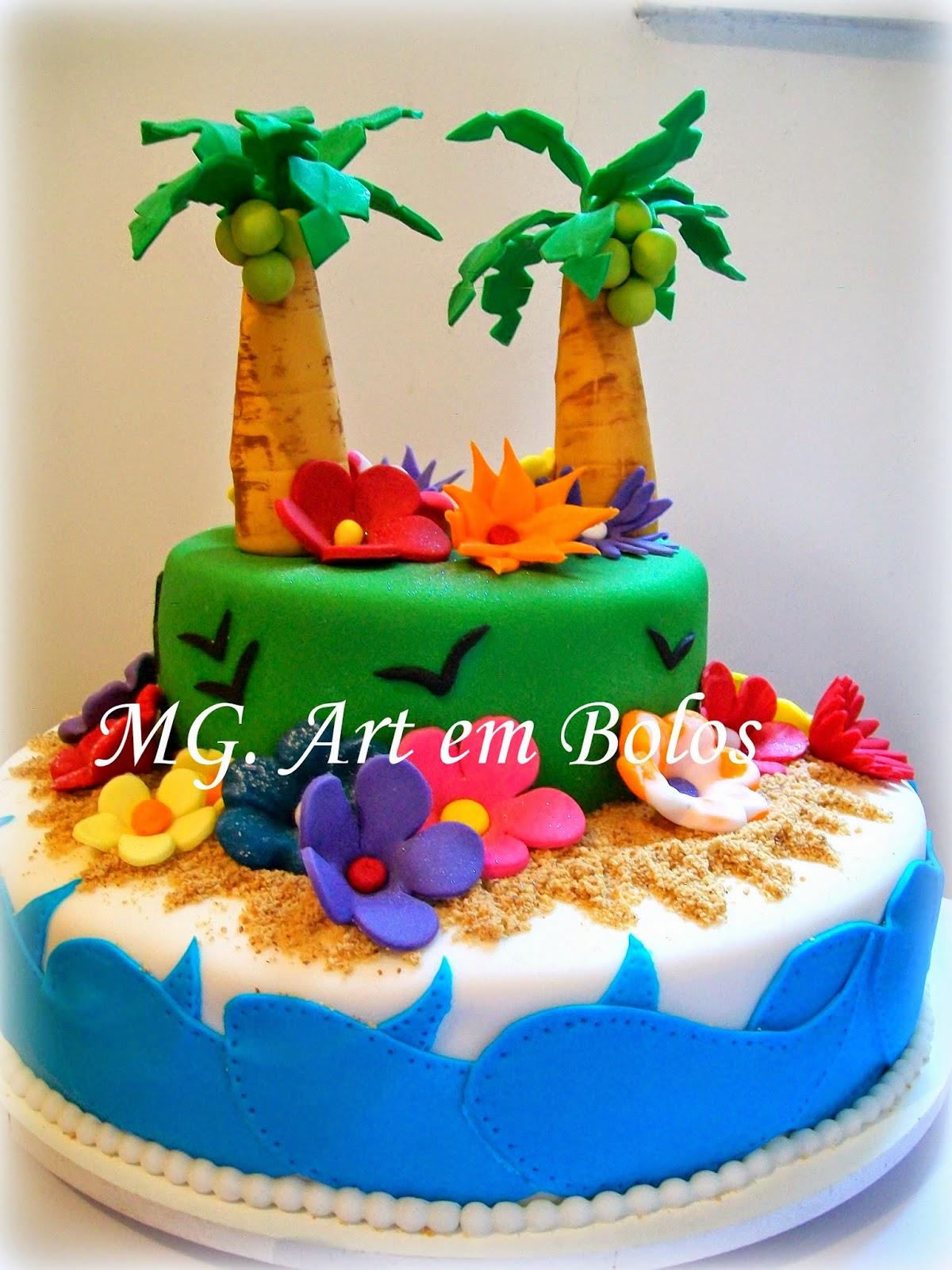 MG Art em Bolos Bolo Luau