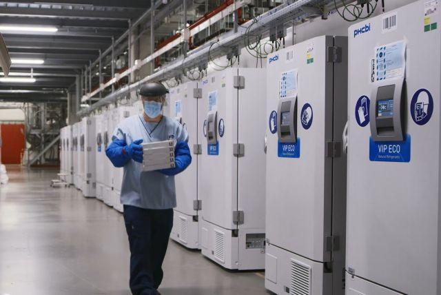Στην Ελλάδα τα πρώτα ψυγεία για το εμβόλιο της Pfizer