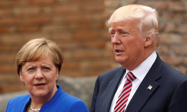 Alemanha está confusa com as repetidas críticas de Donald Trump, enquanto ele permanece em silêncio sobre a Rússia e Arábia Saudita