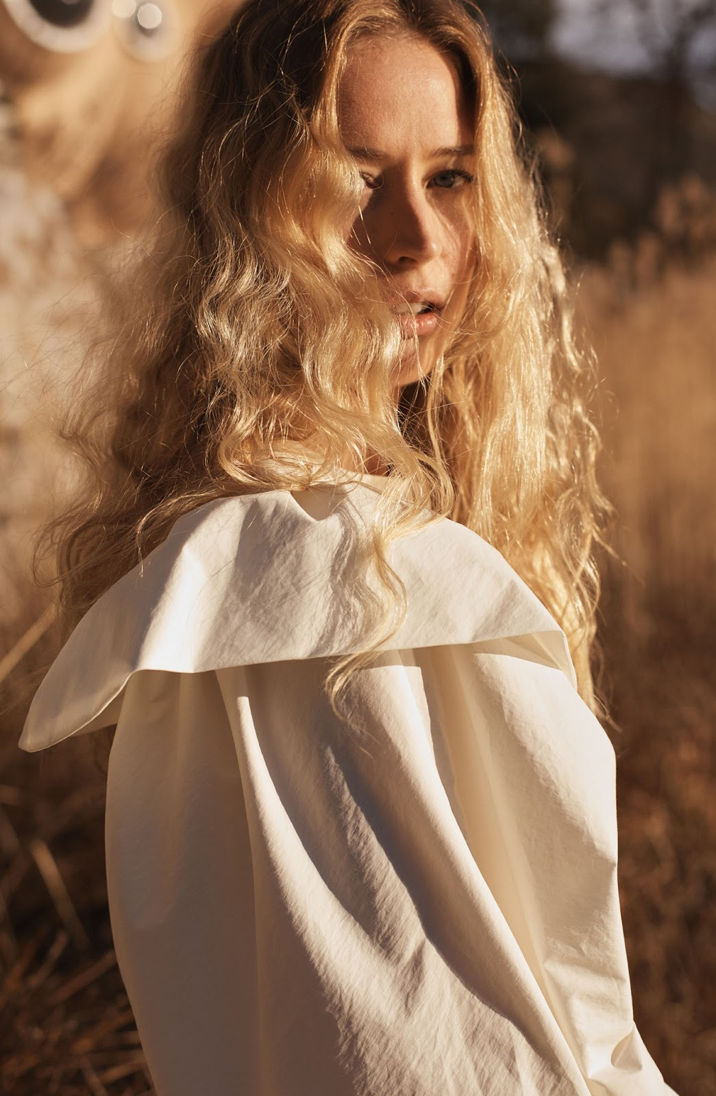 Raquel Zimmermann for Mango (photography: Josh Olins, styling: Aleksandra Woroniecka, make-up: Sally Branka, hair: Shon)