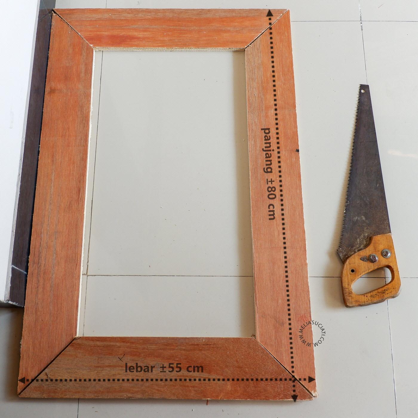 DIY Vanity Mirror With Lights Murah Meriah
