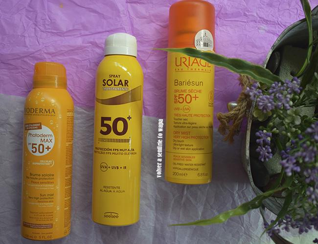 Protectores Solares en Spray
