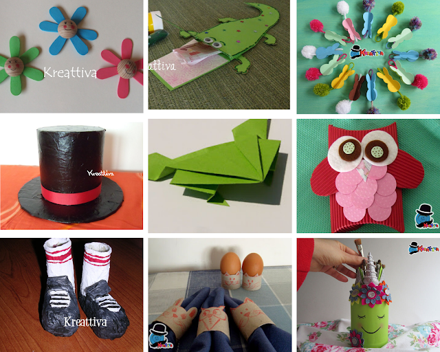 lavoretti creativi con stecchi del gelato, carta pesta e pompon colorati