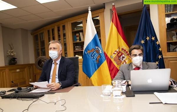 Ángel Víctor Torres defiende ante la Unión Europea que la estrategia con las RUP se renueve y se adapte al impacto de la crisis por Covid-19