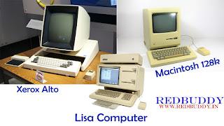 Xerox Alto and Apple Lisa Computer And Macintosh 128k