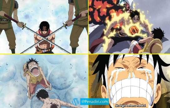 Moment Paling Memorable di Anime One Piece - Kematian Portgas D. Ace