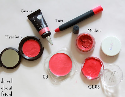 Jelly Season: Chicca Flush Blush 01 and 09