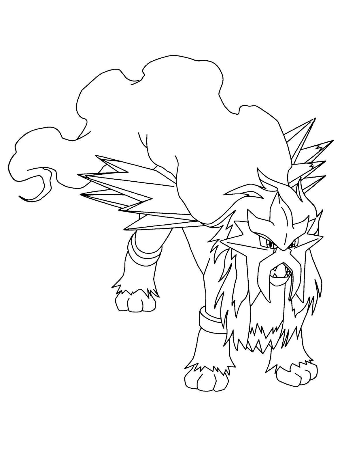 Entei Pokemon Coloring Pages - Free Pokemon Coloring Pages