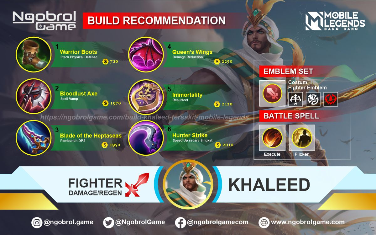Build Khaleed Savage Mobile Legends