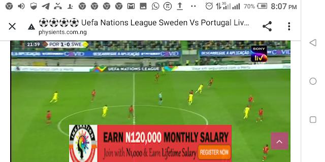 ⚽⚽⚽⚽ Uefa Nations League Sweden Vs Portugal Live Streaming ⚽⚽⚽⚽