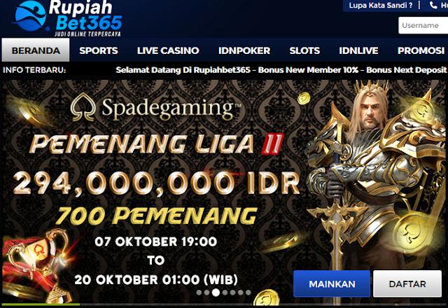 Situs Terpercaya Taruhan Judi Bola Online Agen Rupiahbet365