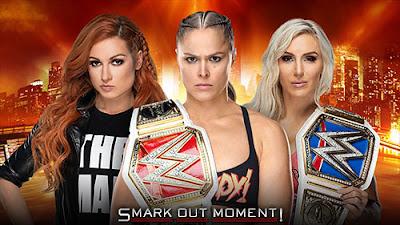 WWE WrestleMania 35 Main event Becky Lynch versus Charlotte Flair versus Ronda Rousey