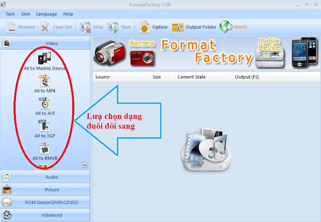 doi duoi flv sang 3GP, WMV, conveter flv to 3gp