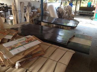 dining table tops of petrified wood
