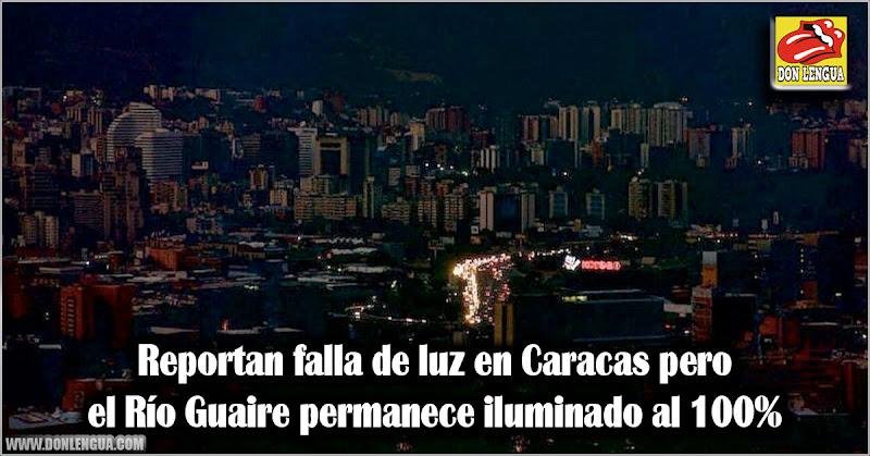 Reportan falla de luz en Caracas pero el Río Guaire permanece iluminado al 100%