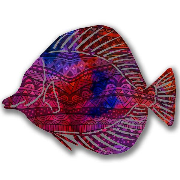 Steel Sangaria Angel Fish 3D Wall Decor