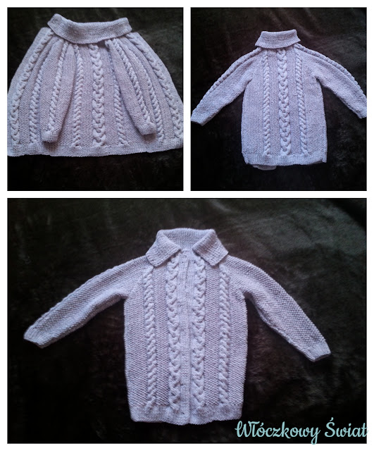 lawendowy sweterek