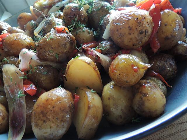 Potatis till grillad hjort och kyckling
