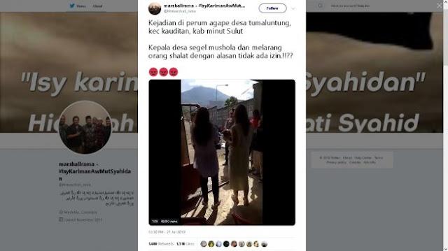 DPW PSI Kecam Larangan Beribadah Bagi Umat Muslim di Perum Agape Tumaluntung