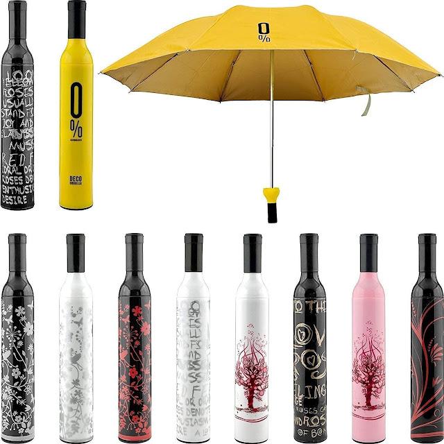 ZOSOE Windproof Double Layer Umbrella with Bottle Cover Umbrella for UV Protection & Rain | Outdoor Car Umbrella for Women & Men