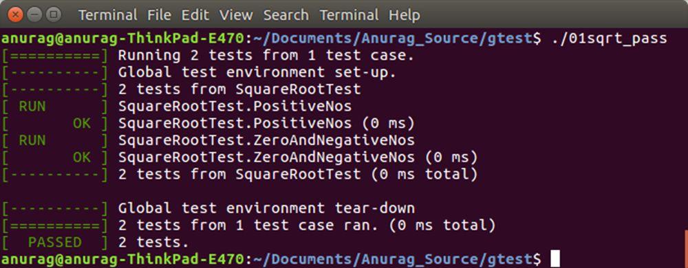 Electronics FAQ: googletest on Ubuntu