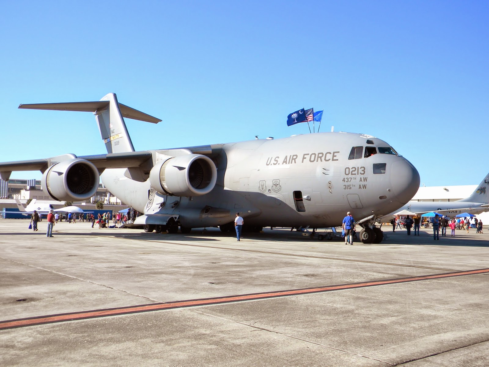 Air Force C-17 display