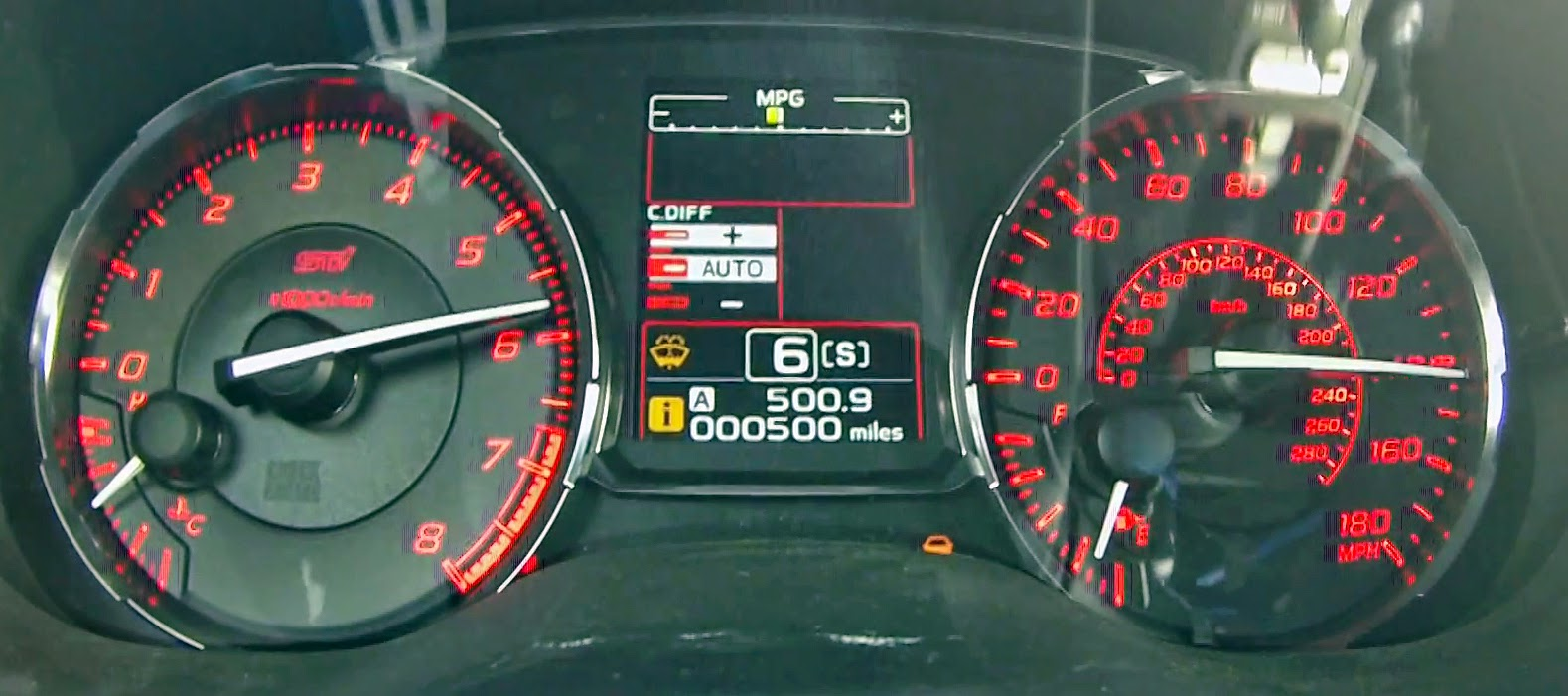2015 Subaru WRX STi Speedometer and RPM Cluster