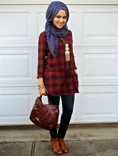 Inilah Model Busana Hijab Casual Remaja Terbaru Fashion Style