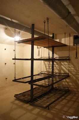 Le cuccette presenti nel Forte di Mutzig in Alsazia