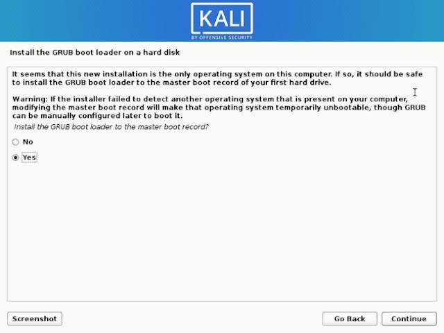 Install Grub Loader Kali Linux