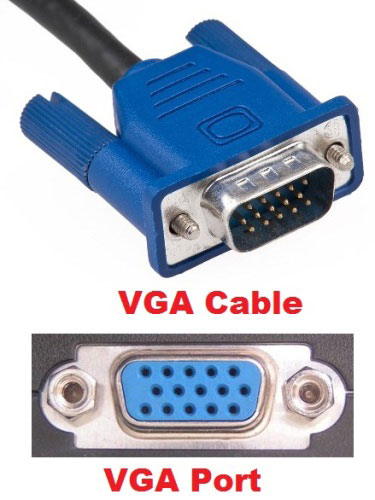 vga cable and vga port