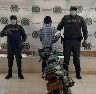 hoyennoticia.com, Capturado en Manaure con una moto robada