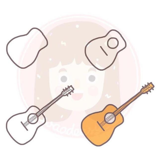 Cara menggambar gitar untuk anak-anak